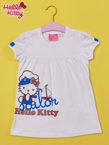 Biały t-shirt dla dziewczynki HELLO KITTY