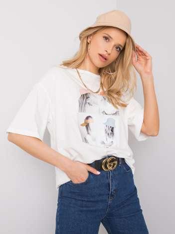 Biały t-shirt oversize Elisabete