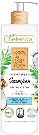 """Bielenda 100% Pure Vegan Wegański Szampon do włosów zniszczonych 400g"""""""