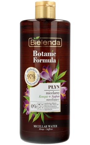 Bielenda Botanic Formula Olej z Konopi+Szafran Nawilżający płyn micelarny 500ml