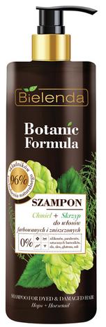 Bielenda Botanic Formula Skrzyp + Chmiel Szampon do włosów farbowanych i zniszczonych 400 ml