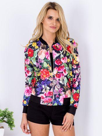 Bluza bomberka w kolorowe kwiaty