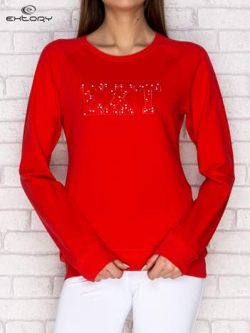 Bluza damska z napisem EXT koralowa