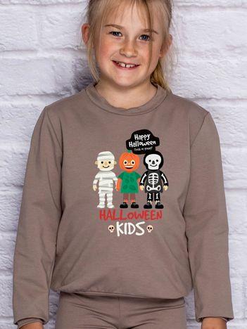 Bluza dziecięca z nadrukiem HALLOWEEN KIDS kawowa