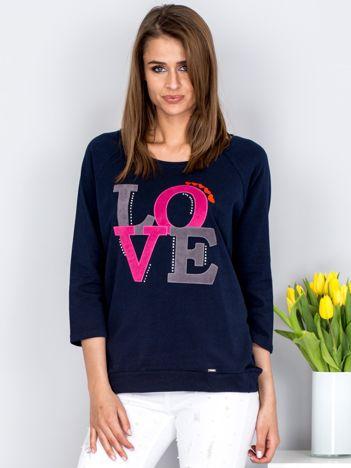 Bluza granatowa LOVE