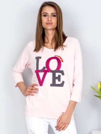 Bluza jasnoróżowa LOVE