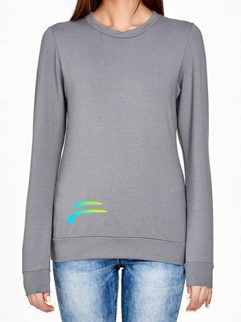 Bluza z kolorowym logo szara