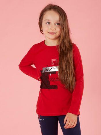 Bluzka dla dziewczynki z nadrukiem czerwona