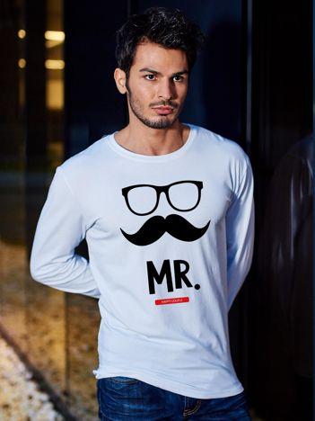 Bluzka męska hipster dla par MISTER biała