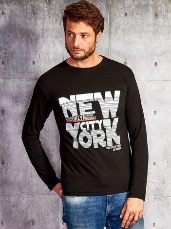 Bluzka męska z napisem NEW YORK CITY czarna