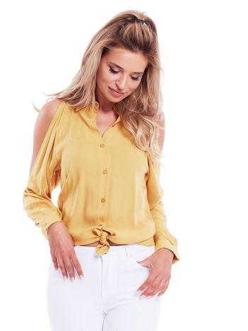 Bluzka z rozcięciami żółta