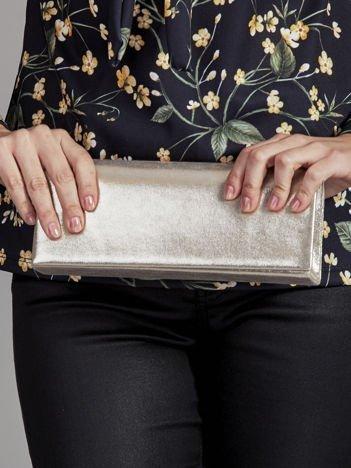 Błyszcząca kopertówka z lustrem złota