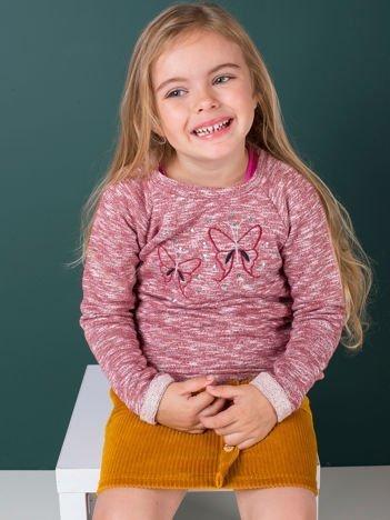 Bordowa bluza dla dziewczynki z cekinami
