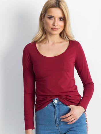 Bordowa bluzka Aspiration
