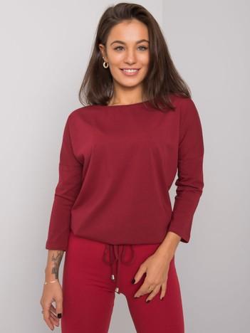 Bordowa bluzka z bawełny