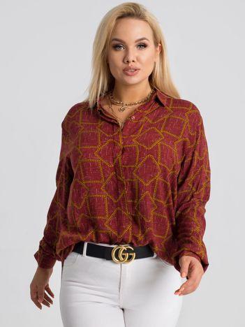 Bordowa koszula plus size Daliah RUE PARIS