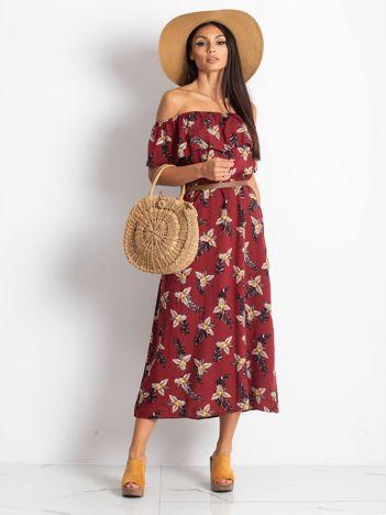 Bordowa sukienka Centerpiece
