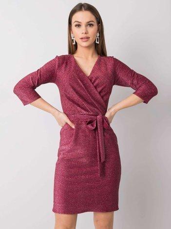 Bordowa sukienka Rochelle
