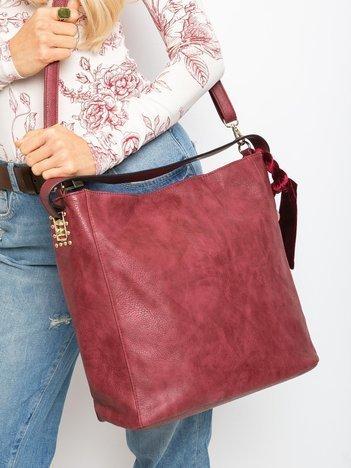 Bordowa torba damska