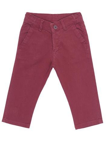 Bordowe materiałowe spodnie dla chłopca