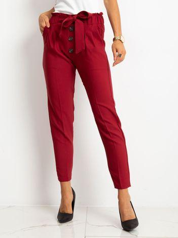 Bordowe spodnie Devon