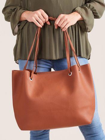 Brązowa miękka torba shopper bag