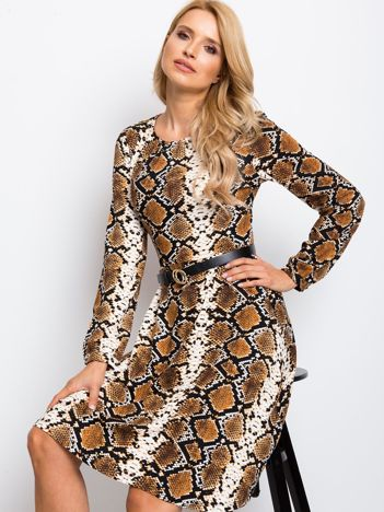 Brązowa sukienka Bossing