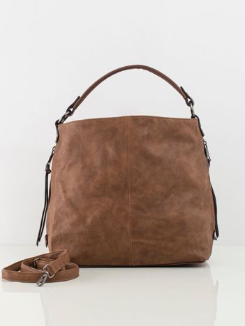 Brązowa torba z ekoskóry