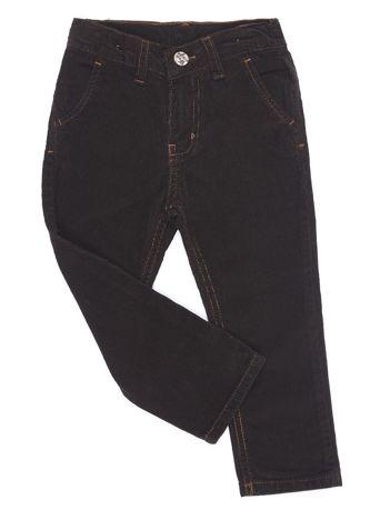 Brązowe sztruksowe spodnie dla chłopca