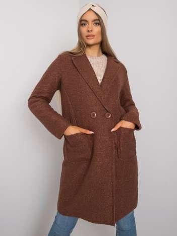 Brązowy klasyczny płaszcz Damme OCH BELLA