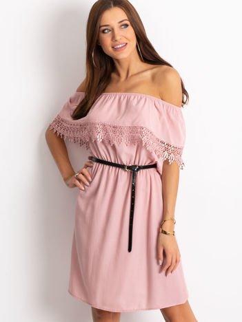 Brudnoróżowa sukienka Serenity