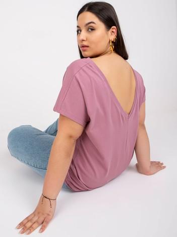 Brudnoróżowy t-shirt plus size Beverly