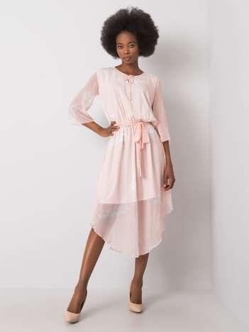 Brzoskwiniowa sukienka Yareli