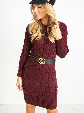 Burgundowa sukienka Glory
