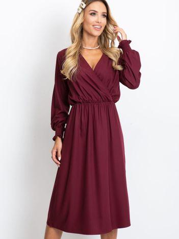 Burgundowa sukienka Lucky