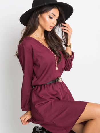 Burgundowa sukienka Perfect
