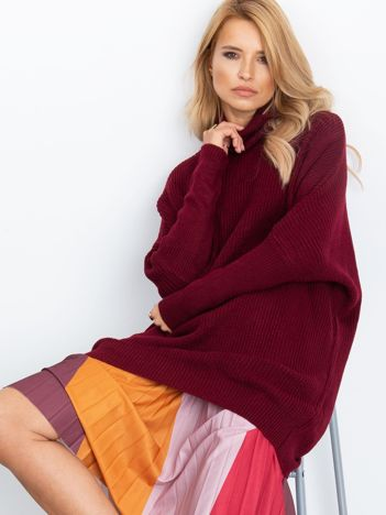 Burgundowy sweter Patience