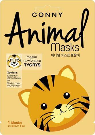 CONNY Maska animal tygrys nawilżająca 1 szt.