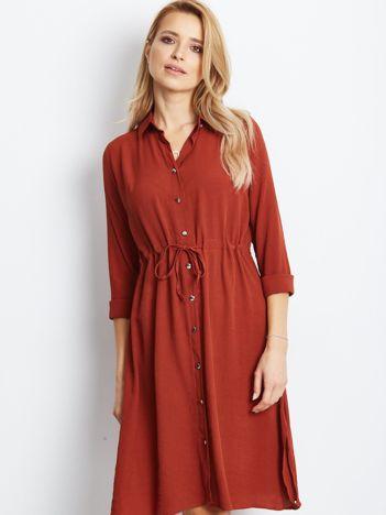 Ceglasta sukienka Ambrosia