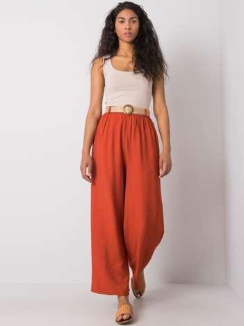 Ceglaste szerokie spodnie Isbel RUE PARIS
