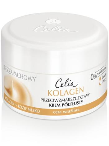 Celia Seria kolagenowa Bezzapachowy krem półtłusty przeciw zmarszczkom do cery wrażliwej 50 ml