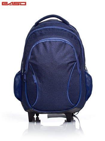Chłopięcy plecak szkolny na kółkach z kieszeniami