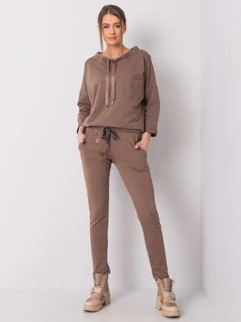 Ciemnobeżowe spodnie dresowe Patrice