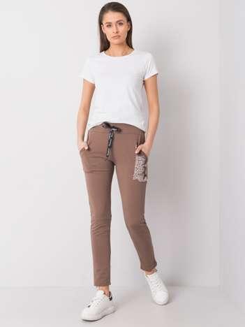 Ciemnobeżowe spodnie dresowe Taylor