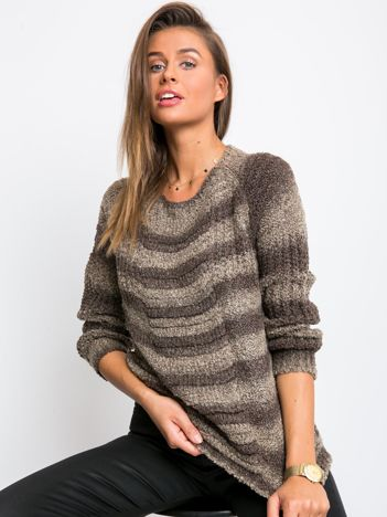 Ciemnobeżowy sweter Getaway