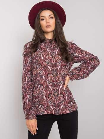 Ciemnobrązowa bluzka z printami Hadiya FRESH MADE