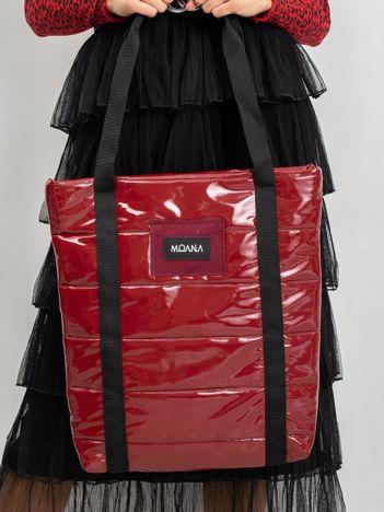 Ciemnoczerwona torba lakierowana