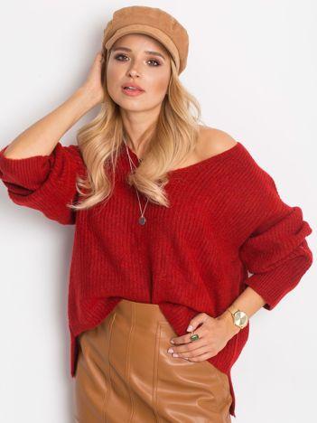 Ciemnoczerwony sweter Wandering