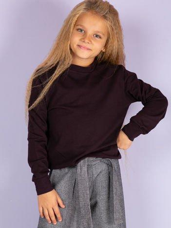 Ciemnofioletowa bluza młodzieżowa