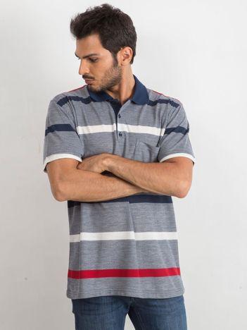 Ciemnoniebieska koszulka męska polo Separate